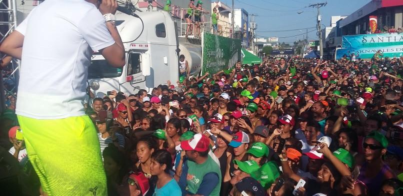 Último día de carnaval ciudad de Santiago