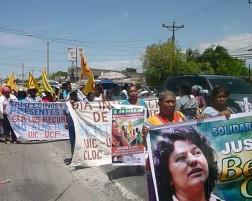 Grupos campesinos se manifestaron en conmemoración al 8 de marzo